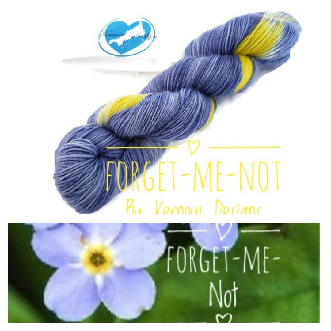 Forget-Me-Not Hand Dyed Yarn