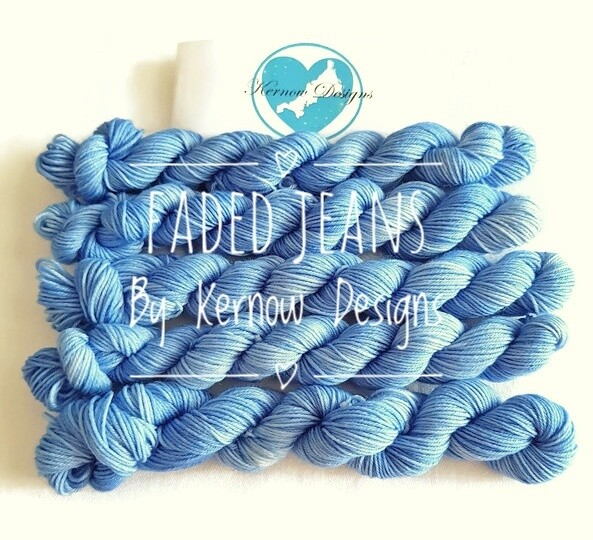 Faded Jeans Hand Dyed Yarn