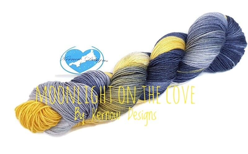 Moonlight On The Cove Hand Dyed Yarn