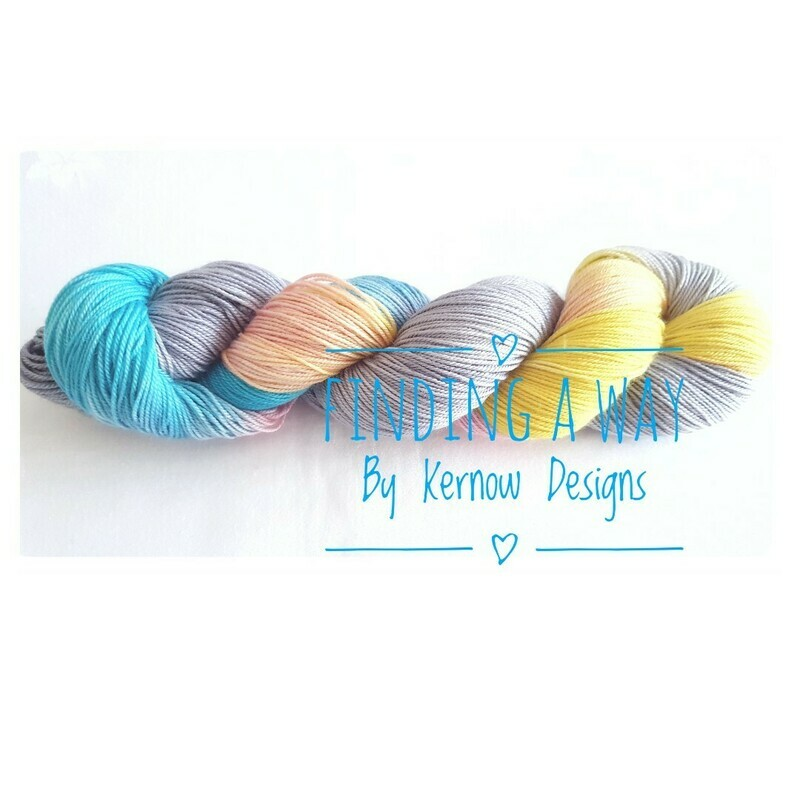 Hand Dyed Yarn - Finding A Way (Fundraiser Yarn.)
