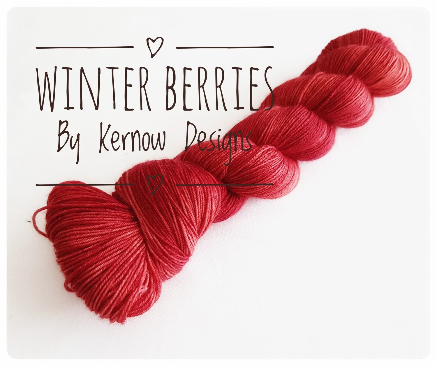 Winter Berries Hand Dyed Yarn