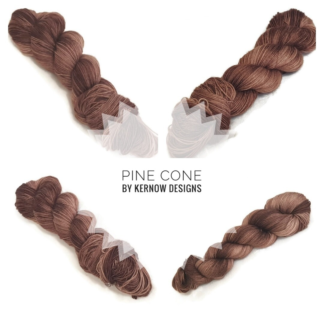 Pine Cone Hand Dyed Yarn