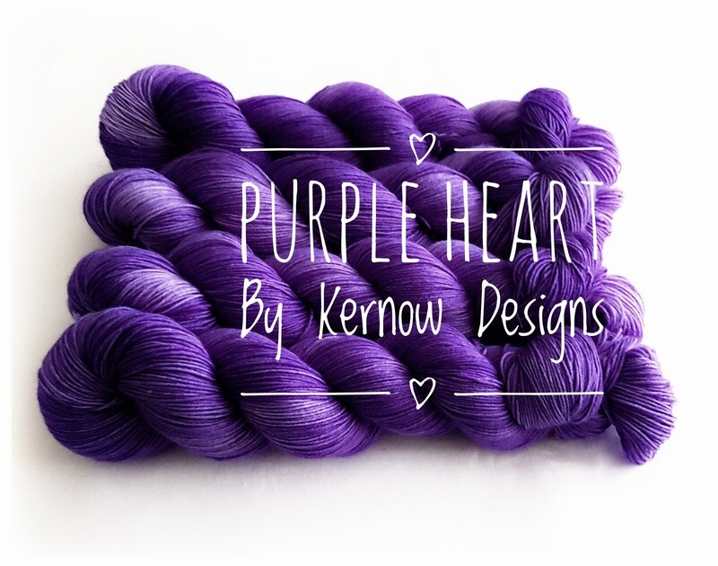 Purple Heart Hand Dyed Yarn