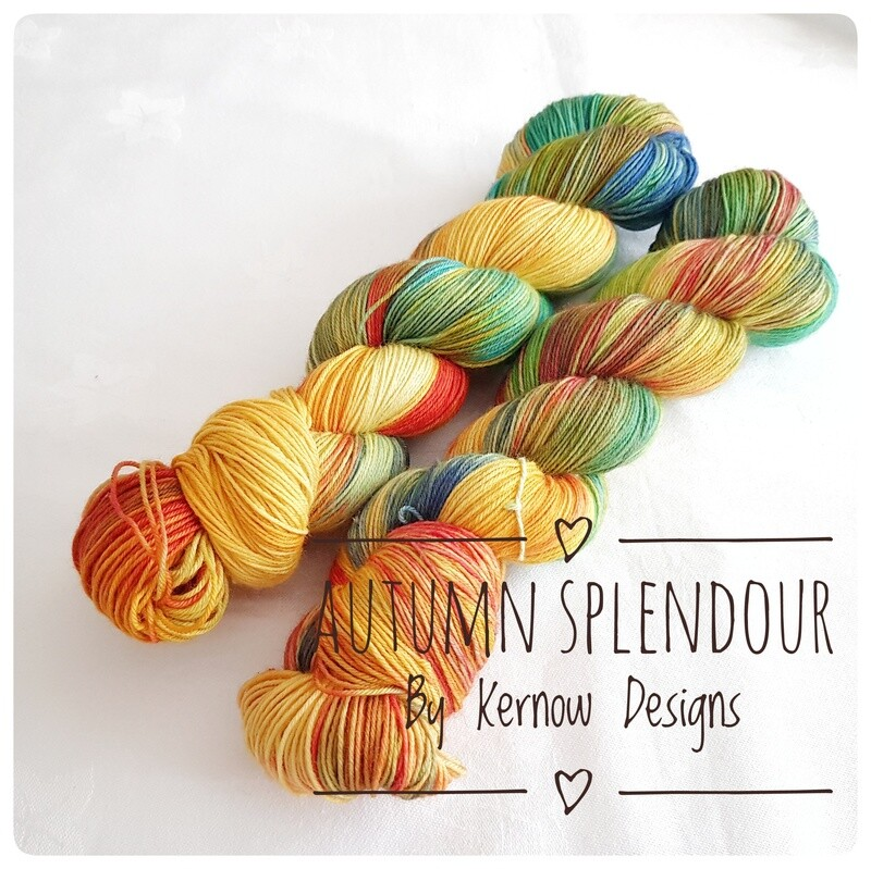 Autumn Splendour Hand Dyed Yarn