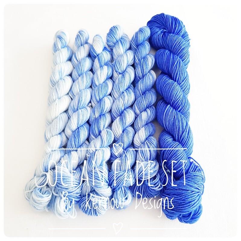Ocean Fade Hand Dyed Yarn 150g Set