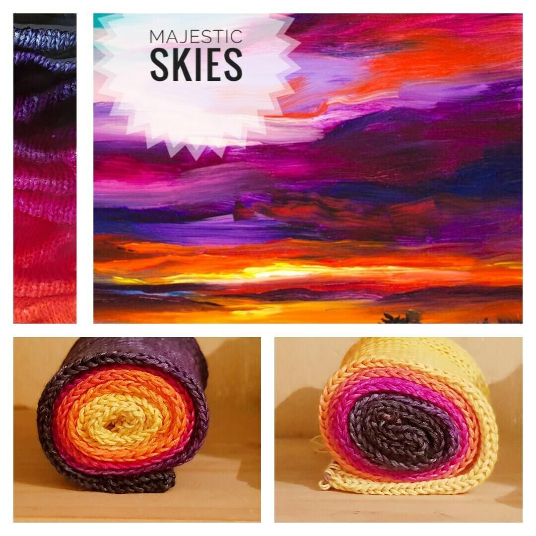 Majestic Skies Hand Dyed Yarn