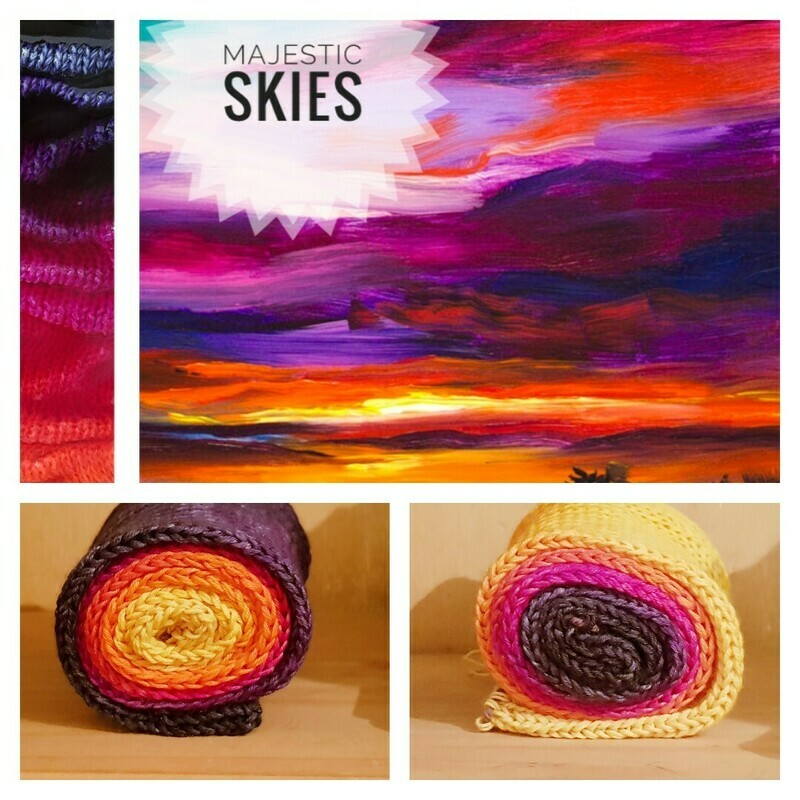 Majestic Skies Hand Dyed Yarn