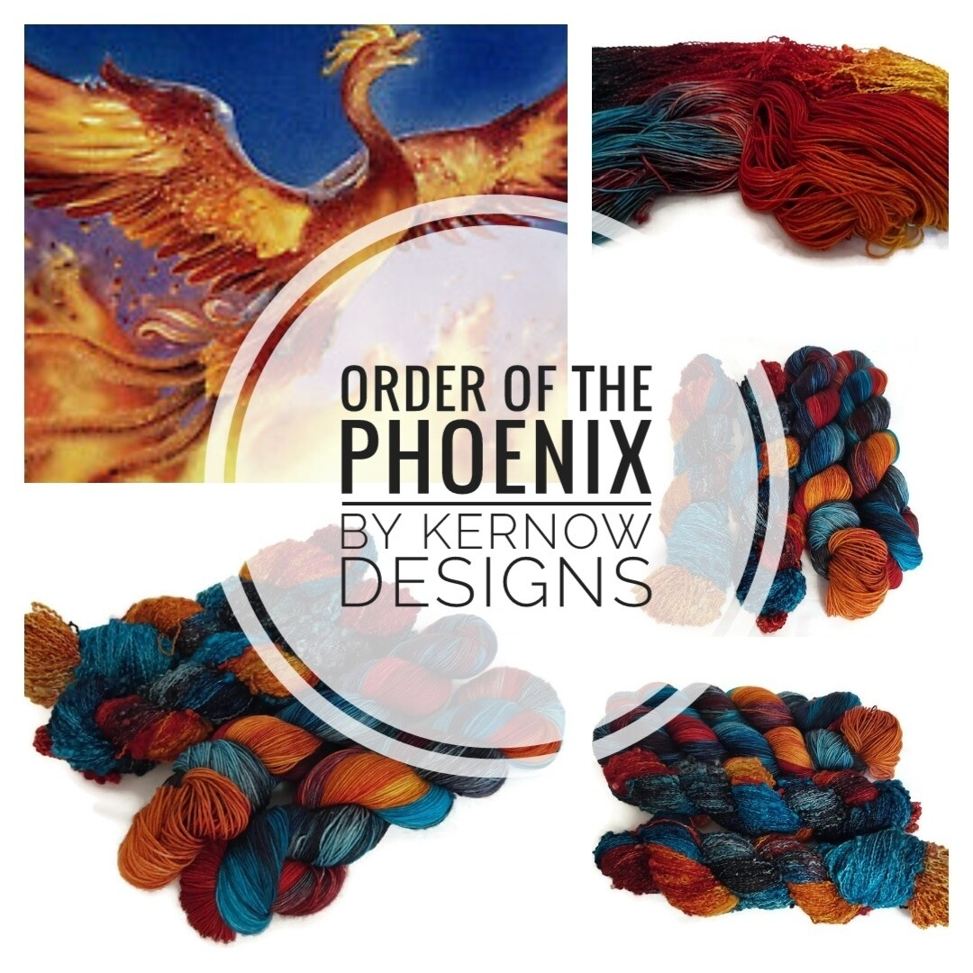 Order Of The Phoenix Hand Dyed Yarn