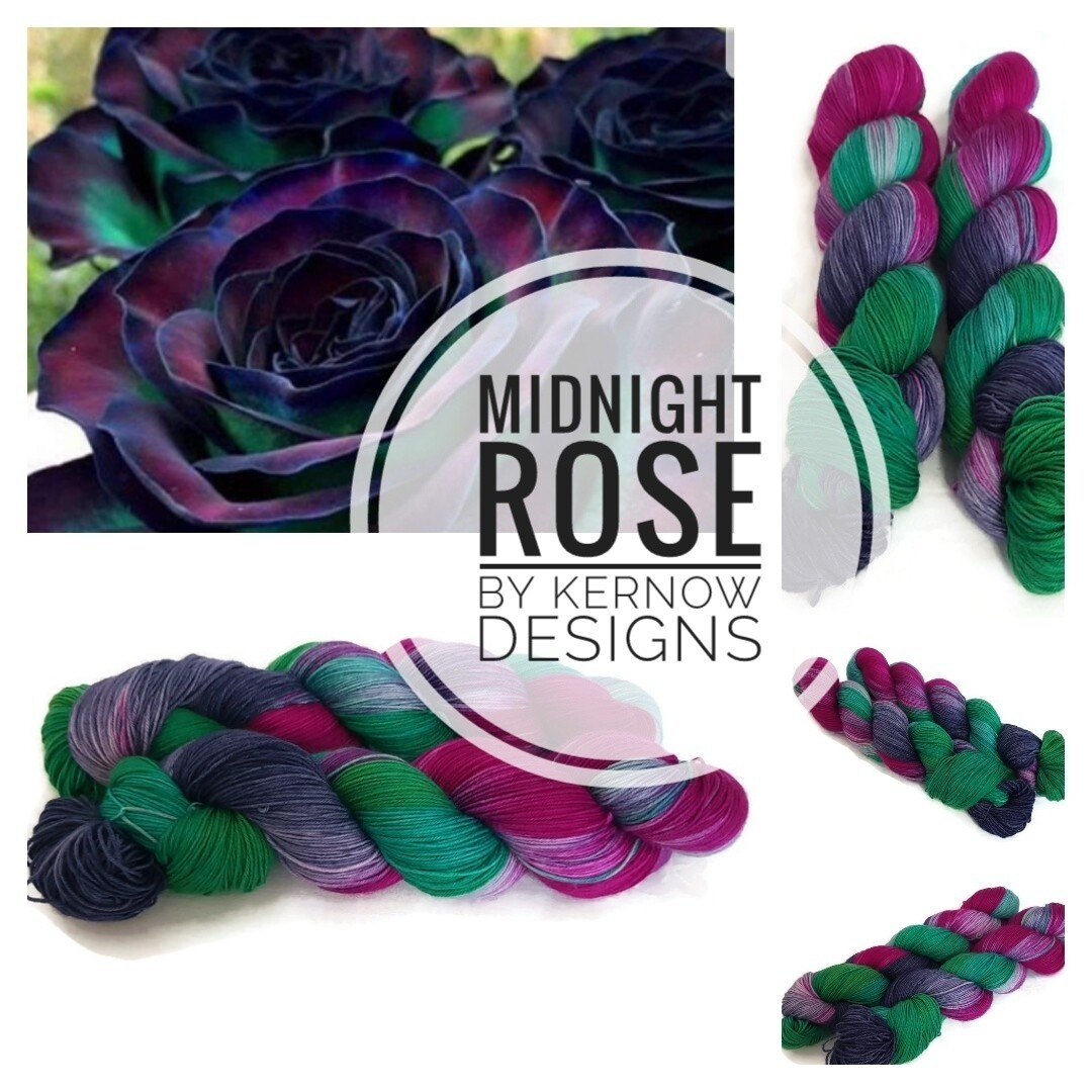 Midnight Rose Hand Dyed Yarn