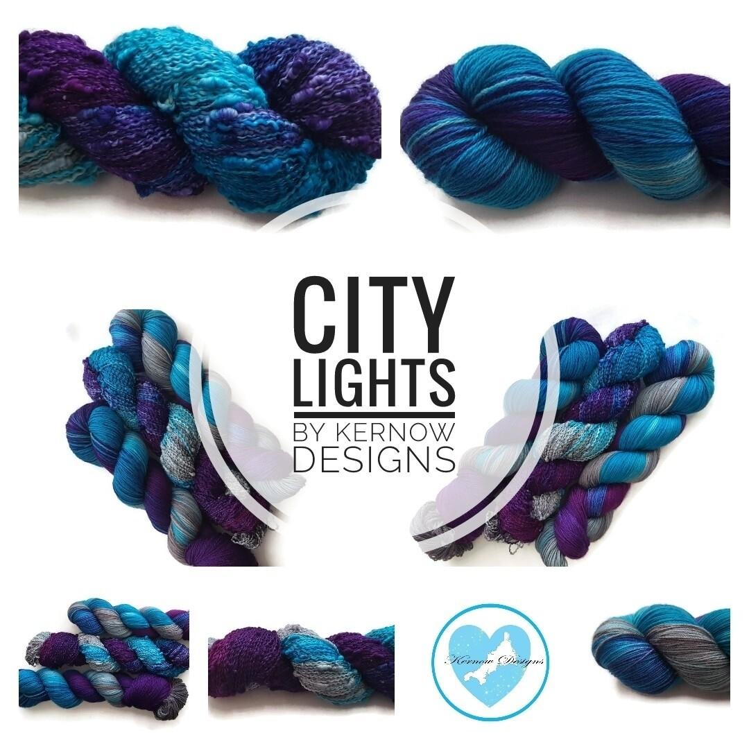 City Lights Hand Dyed Yarn