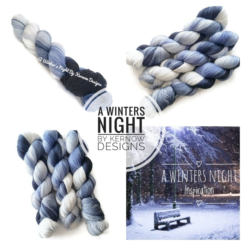 A Winters Night Hand Dyed Yarn