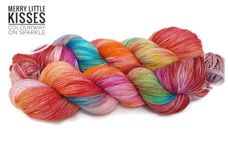 Merry Little Kisses Hand Dyed Yarn