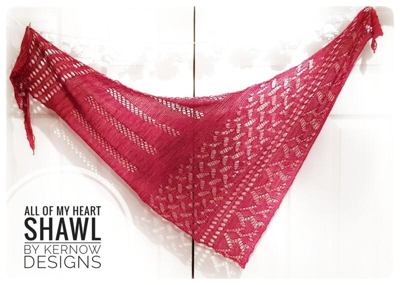 Heart Shawl Gift Set - Knit & Crochet