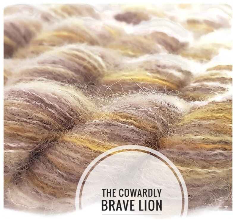 The Cowardly Brave Lion Hand Dyed Yarn
