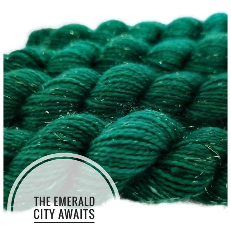 The Emerald City Awaits Hand Dyed Yarn