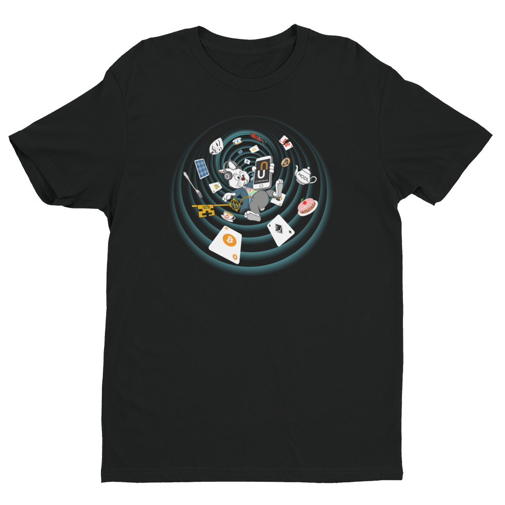 The Crypto Rabbit Hole T-Shirt -- Black