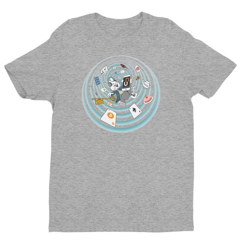 The Crypto Rabbit Hole T-Shirt -- Heather Grey