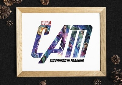 Avengers Personalised Name Frame