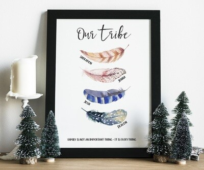 Our Tribe - Family Personalised Print