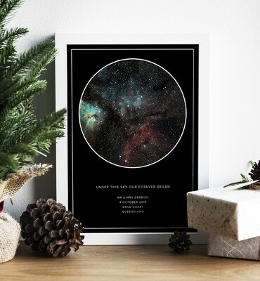 Under The Stars Personalised Print