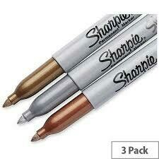 Metallic Markers - Pack of 3