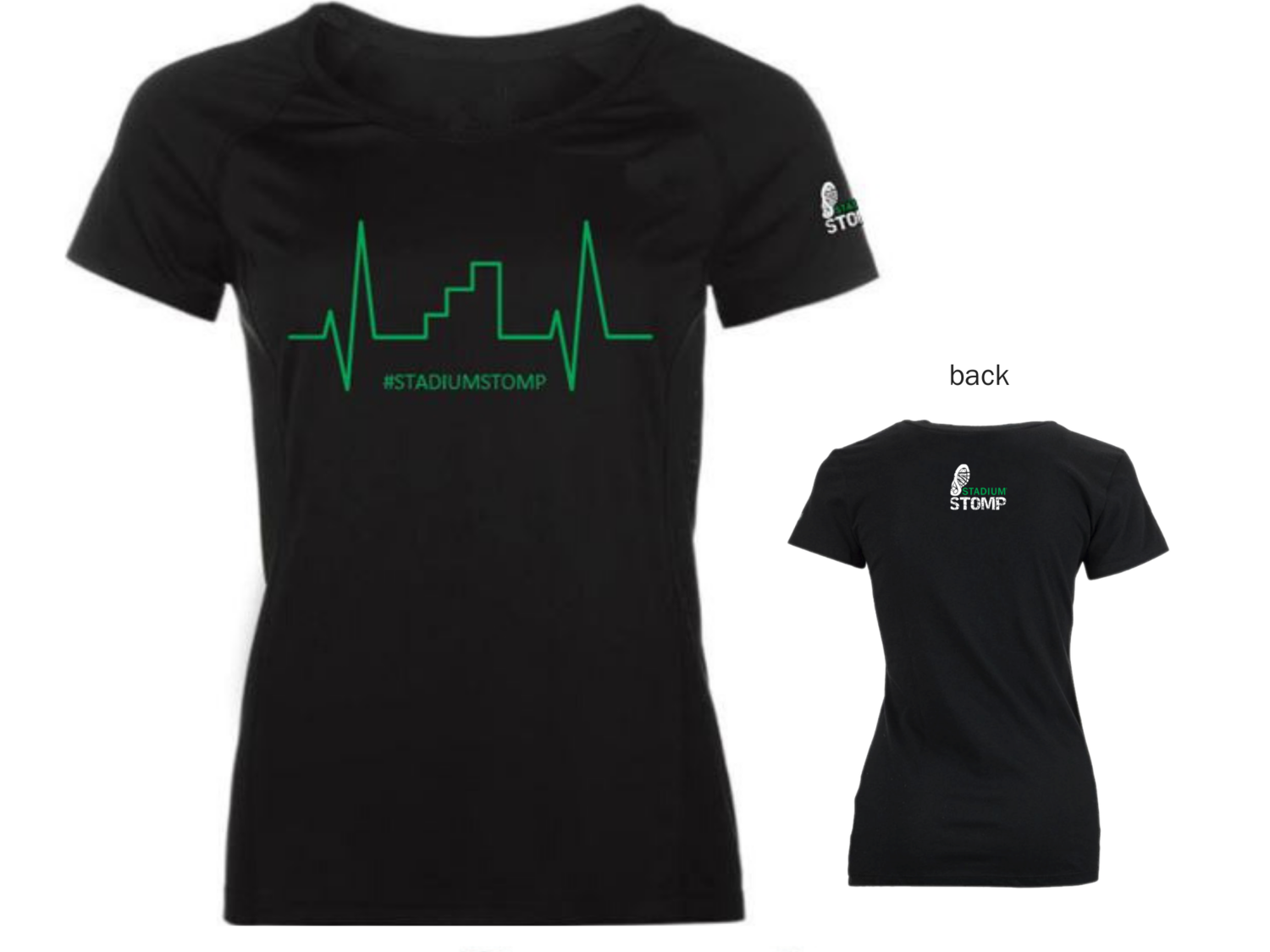 LARGE - Women's Heart Beat t-shirt