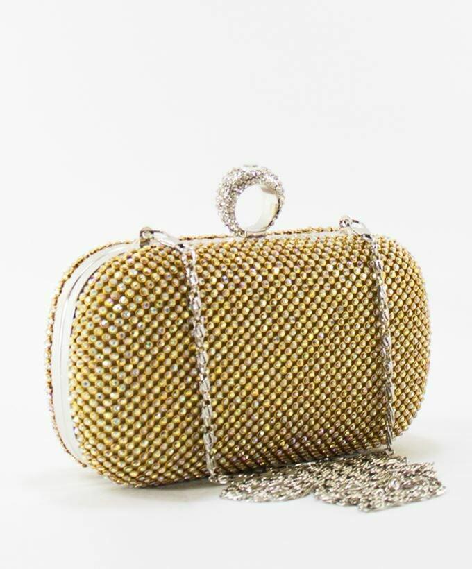 4041 Soiree Satin Clutch Bag