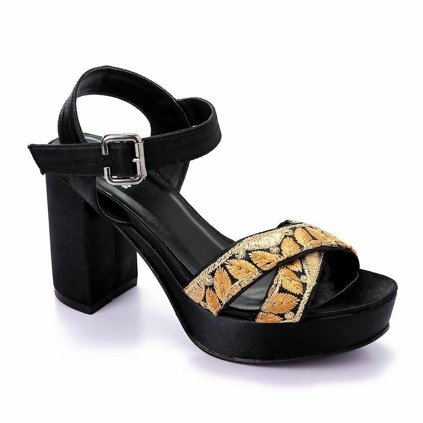 3369 Sandal - Gold*Black