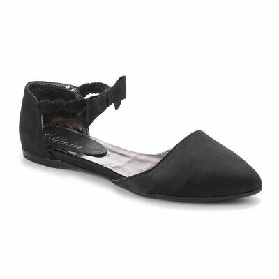 3268  Satan Flat Shoes - Black