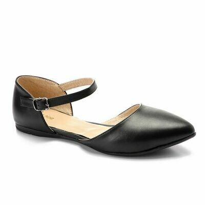 3345 Ballet Flat Shoes - Black