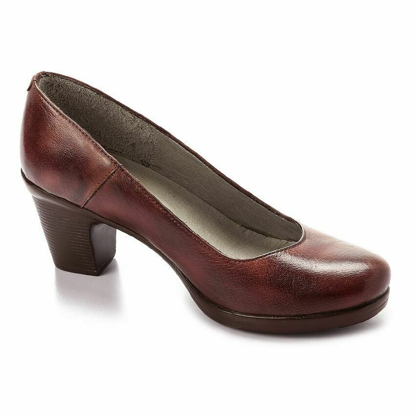 3687 Nature Leather Shoes  -Brown-