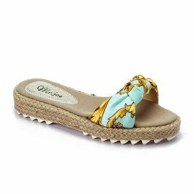 3373 Medical Slipper - Light Blue *Gold
