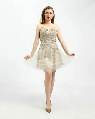 8410 Soiree Dress - Begie