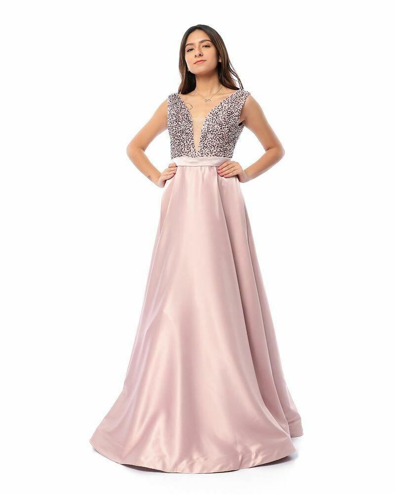 8416 Soiree Dress - Rose
