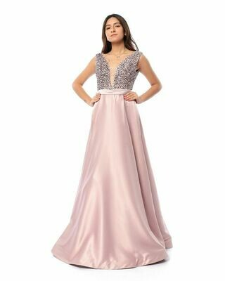 8416 Soiree Dress - Rose