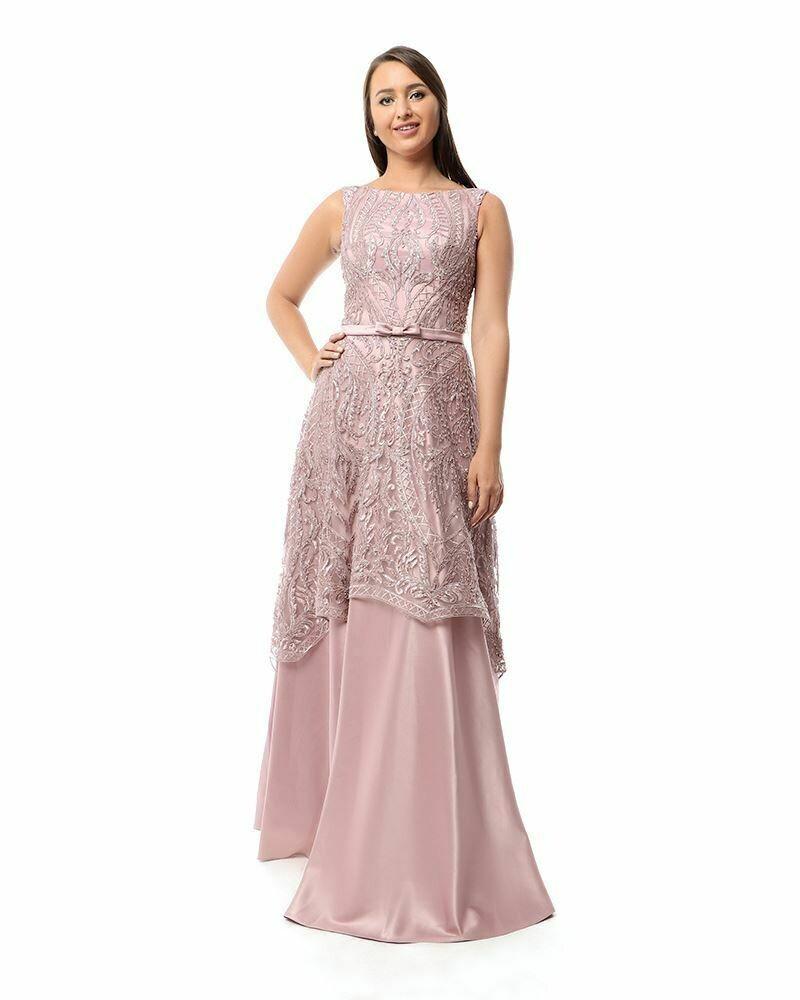 8424Soiree Dress - Cashmer