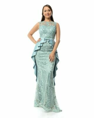8426 Soiree Dress - Aqua Marine