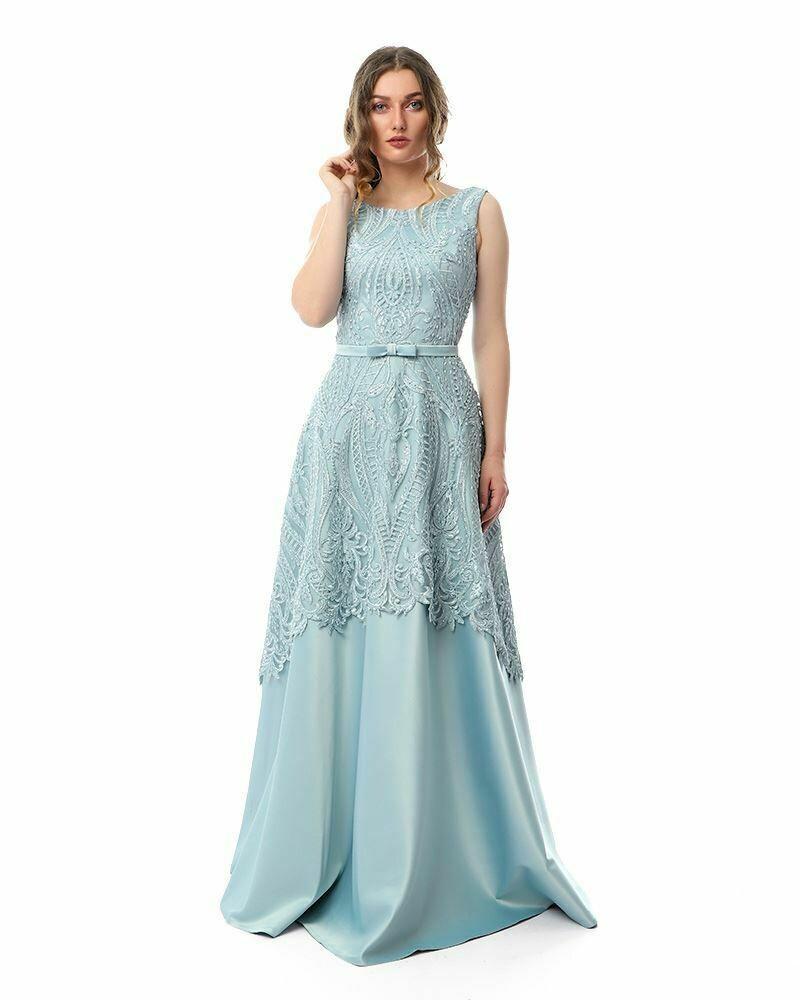 8430Soiree Dress -  Baby Blue
