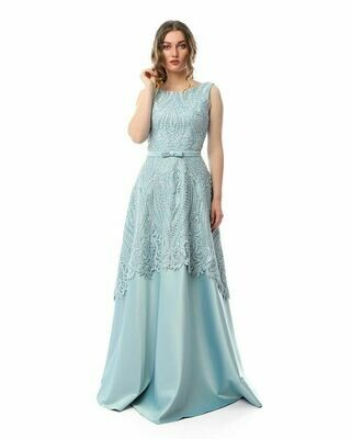 8430Soiree Dress -  Baby Blue