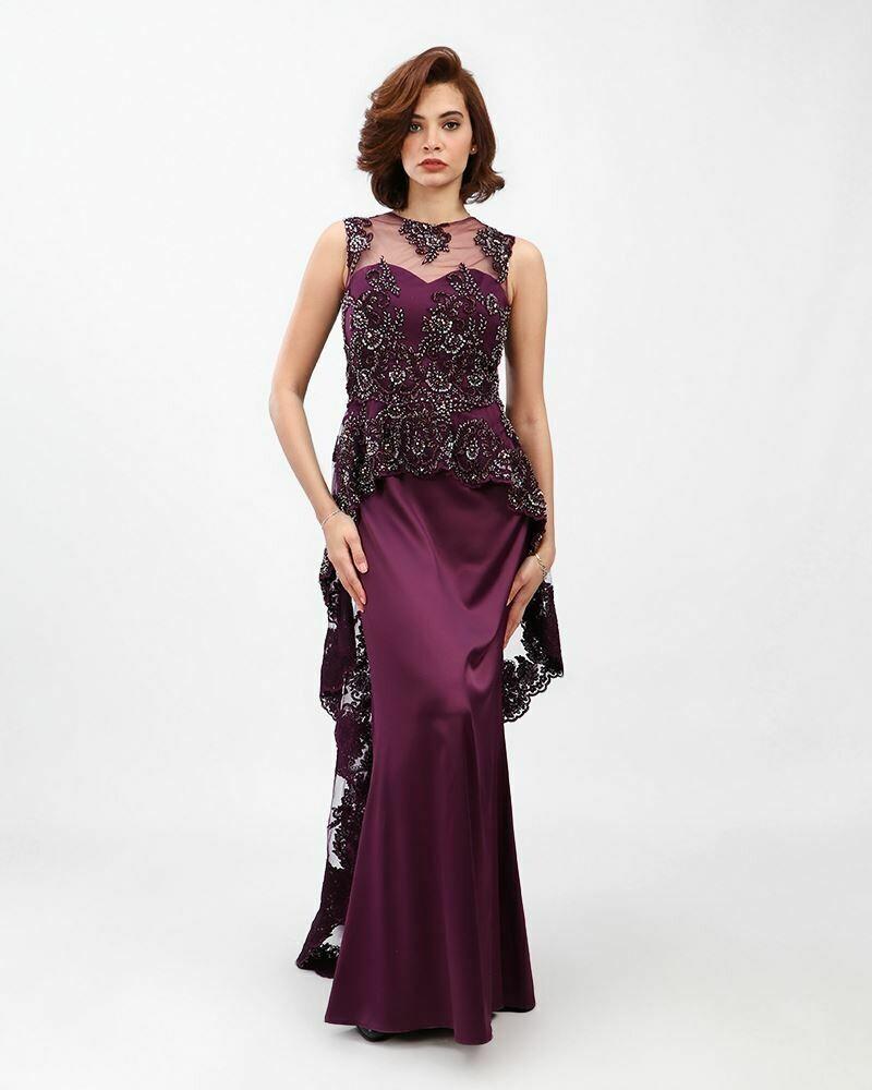 8395  Soiree Dress - Purple