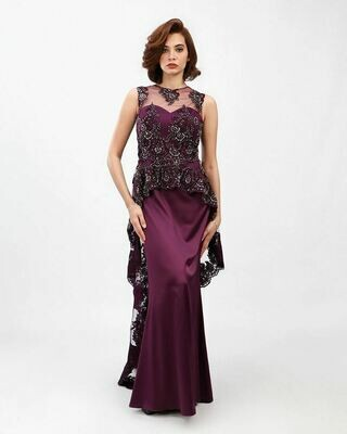 8395  Soiree Dress - Purple