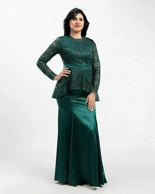 8405  Soiree Dress - Dark Green