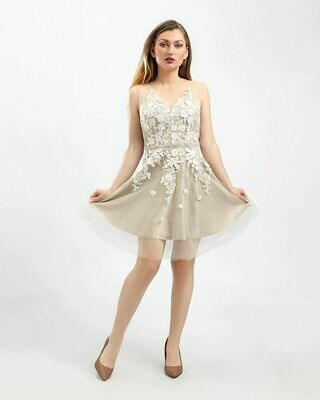 8407 Soiree Dress - Begie