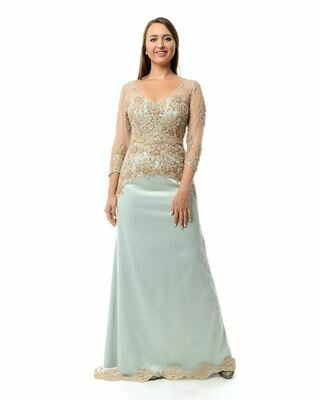 8422 Soiree Dress - Light Blue