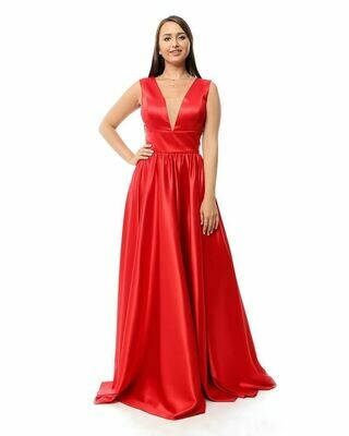 8423Soiree Dress - Red
