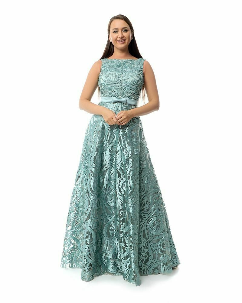 8427 Soiree Dress - Aqua Marine