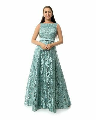 8427 Soiree Dress - Aqua Marine