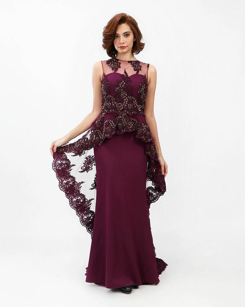 8389 Soiree Dress - Purple