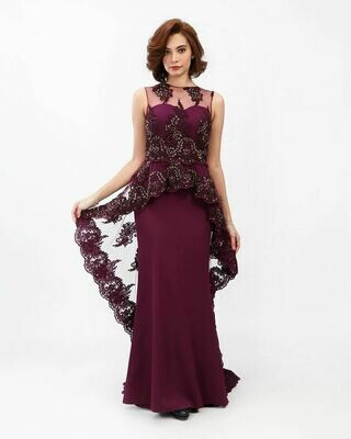 8389 Soiree Dress - Purple