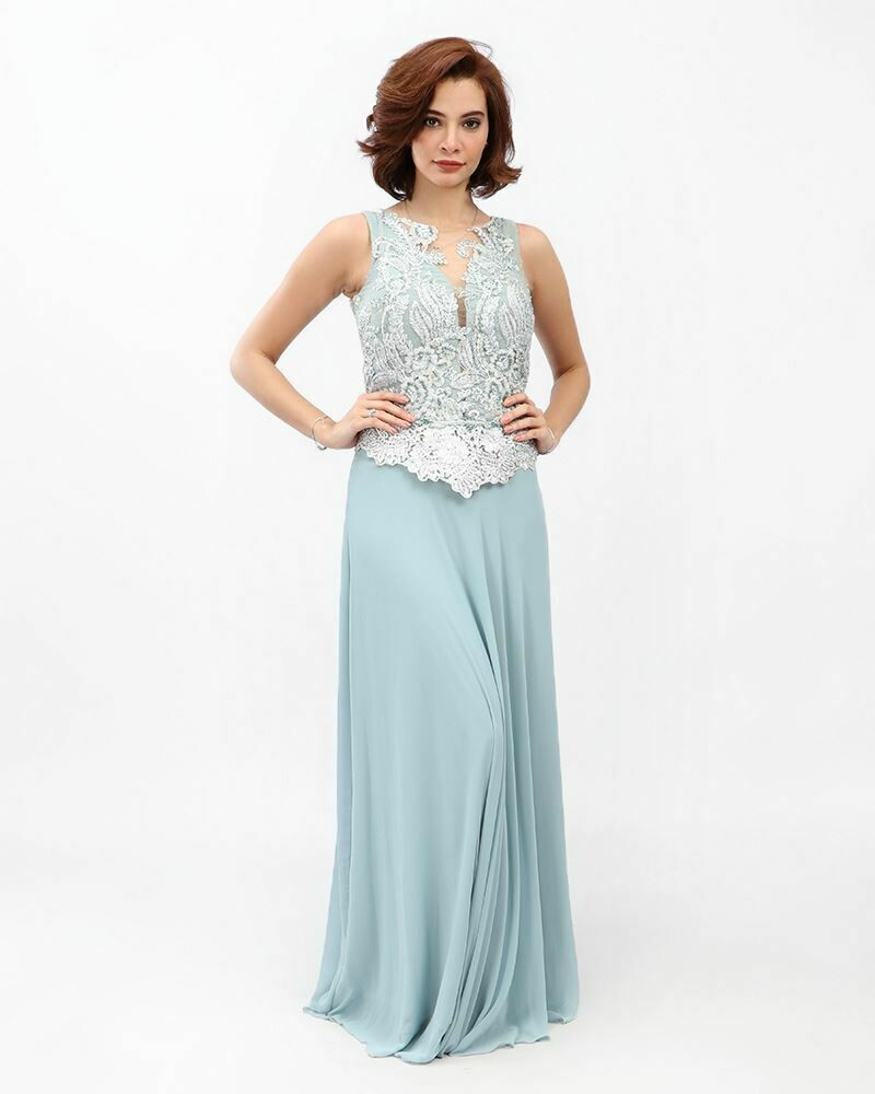 8390 Soiree Dress - Baby blue